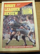 May-1991 Rugby League Review: Issue No.32 - Wembley 91 Pictures, Action & Commen