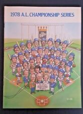 1978 A.L. CHAMPIONSHIP SERIES KANSAS CITY ROYALS PROGRAM UNMARKED GREAT COND!