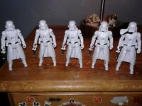 Star wars Stormtrooper Lot Hasbro 5 Troopers And Guns