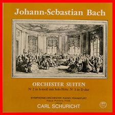 """BACH SUITES POUR ORCHESTRE NO 2 ET 3 KLAUS PALLARES CARL SCHURICHT 12"""" LP (B857)"""