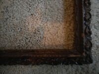 Antique Picture Frame 11x15 Ornate Brown Rustic Farmhouse Chippy Chipped