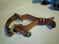Dooney & Bourke Brown Leather Strap w/Hangtag Charm for Hand Shoulder Bag Purse