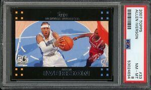 2007/08 Topps Allen Iverson #33 PSA 8