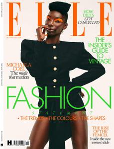ELLE Magazine - Oct/Nov 2021 - Michaela Coel, Griff, Diets, etc - Free P&P - NEW