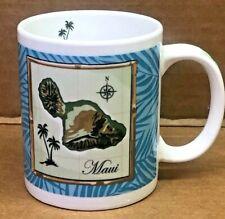 BLUE MAUI MAP DESIGNED IN HAWAI  COFFE/TEA MUG