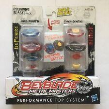 HASBRO BEYBLADE CRUSHING BLAST 2-PACK ROCK ZURAFA BB-78A/ TORCH GEMIOS B-131 USA