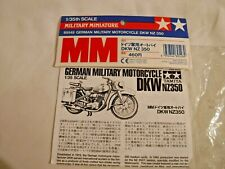 Rare 1/35 Tamiya German Dkw Nz 350 Military Motorcycle # 89548