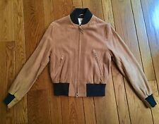 GOLDEN BEAR For CLUB MONACO Tan Suede Baseball Jacket XS NWT