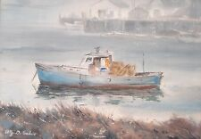 Prov Art Club Rockport Artist Alfred Fritz DiSalvo Watercolor Painting 00499