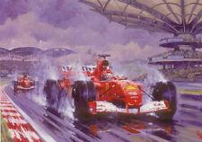 Formula 1 One F1 Motor Racing Car Michael Schumacher Ferrari Birthday Card