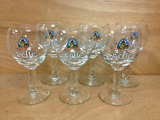 Leffe Belgium Beer 25 cl Chalice Glass Set - Set of 6 Glasses - NEW
