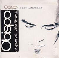 CD CARTONNE CARDSLEEVE PASCAL OBISPO 2T DE 2001 CE QU'ON VOIT, ALLEE RIMBAUD