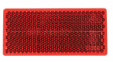 UNIVERSAL reflector RED rectangular self adhesive 94mm x 44mm CAR CARAVAN LORRY