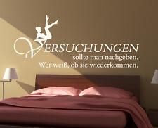 Wandtattoo Wandaufkleber Zitat Spruch Deko Versuchungen Schlafzimmer Liebe Sex