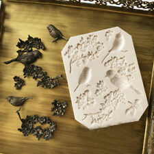 Bird Flower Silicone Fondant Mould Cake Border Decor Sugarcraft Chocolate Mold
