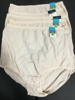 NWT Vanity Fair Cotton Panties (5) Five-pack Briefs 15318 Fawn 5 6 7 8 9 10 11