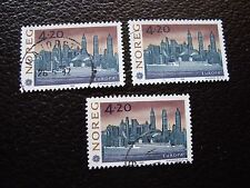 NORVEGE - timbre yvert et tellier n° 1054 x3 obl (A04) stamp norway (I)