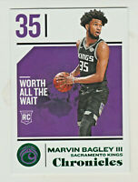 2018-19 Panini Chronicles GREEN RETAIL #72 MARVIN BAGLEY III RC Rookie Kings