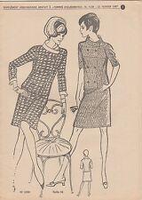 Patron à décalquer Femmes d'Aujourd'hui N°1138 février 1967 Tailleur Taille 44