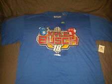 Kyle Busch #18 Joe Gibbs Racing 14' Blue M&M's T-Shirt - Mens L LARGE BRAND NEW