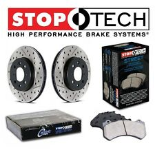 For BMW E60 E63 E64 Front StopTech Drilled Slotted Brake Rotors Street Pads Kit