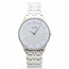 Citizen Eco Drive AR3010-65A Men Ultra Slim White Dial Stainless Steel Watch