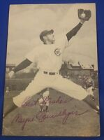 WAYNE TERWILLIGER  signed autograph McCarthy postcard Chicago Cubs 1949-51