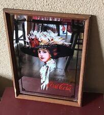 Vintage Coca Cola Mirror Bar Sign fRAMED Picture 12X16 Hamilton Girl