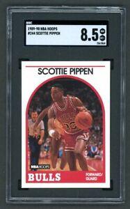 1989-90 Hoops Scottie Pippen #244 SGC 8.5 NM-MT+ Chicago Bulls HOF PSA