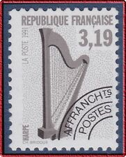 FRANCE 1992 PREOBLITERES N° 220a** dentelé 12, Harpe, TTB, precancelled MNH