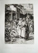 Leopold Müller Orient Markt Händler Ägypten Turban Araber Kamel Flöte Obst Kairo
