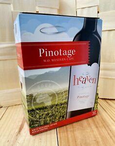4x BAG IN BOX Übermenge Pinotage rot BiB Himmel Wein heaven Südafrika  4x3L 15%