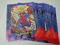 (Lot of 10) Marvel Spider Man Insidious Six Sticker Books Panini Fleer Skybox