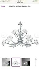 Chrome Glass Flower 9 Light Ceiling Pendant. Only used in show home.