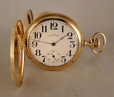 109 YEARS OLD ILLINOIS 19j 14k GOLD FILLED HUNTER CASE 16s GREAT POCKET WATCH