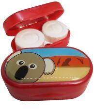 Caso de Espejo Lindos Animales-Lentes De Contacto remojo Estuche Reino Unido Made-Koala