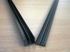 60cm VIVARIUM 4mm glass track RUNNERS for 2ft vivs black top + bottom VIV BITS