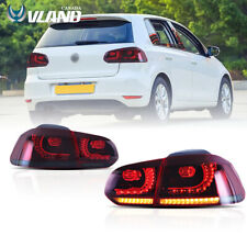 Red Smoked LED Tail Light  For 2010-2014 Volkswagen Golf 6 MK6 GTI R Rear Lamp