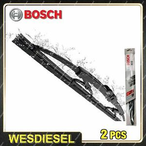 Pair Bosch Front Wiper Blades fit Iveco Daily Grinta 5/1996-5/1999