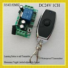Dc24V 1Ch Relay Remote Switch Door Access Opener Button Wirelss Switch Power Ask