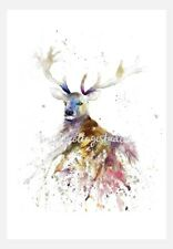 Signed Print Of Original Watercolour 'Enchanted Stag' by Wendy Munro