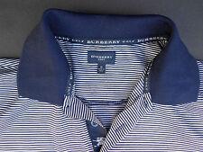 Burberry Golf Striped Navy Golf Shirt (S-M)