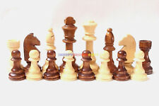 "New Wooden Chess Set 32 Pieces - King 4"" Height (Pieces Only) Total Weight 530g"