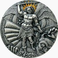 2020 Cameroon 3000 Francs APOCALYPSE SAINT MICHAEL & THE DRAGON 3oz Silver Coin