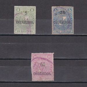 DOMINICAN REPUBLIC 1883, Sc# 55-62, CV $31, part set, Used