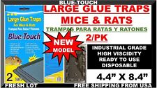 """2 Mouse Traps glue mice rat insect rodent pest control (Peanut Scent) Large 8.4"""""""