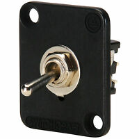 Switchcraft EHTSLB Toggle Switch Locking DPDT Black Flange