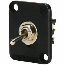 Switchcraft EHTSLB Toggle Switch Locking DPDT Black Flange