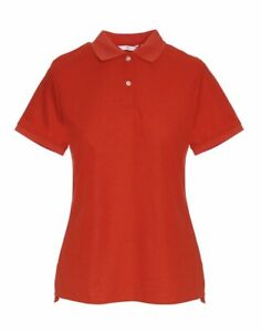 2 x NNT Ladies Size 20-22 (4XL) Short Sleeve, Sports Polo Shirt Top - RED