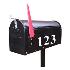 Street Address Mailbox Number PICK ONE NUMBER ONLY vinyl decal stickers White